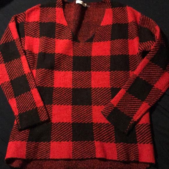 Mustard Seed Sweaters - Buffalo checkered sweater